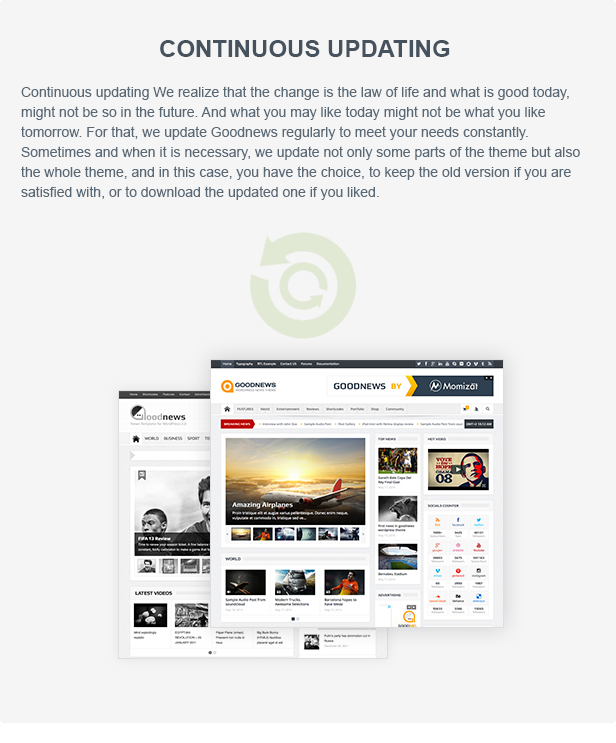 updates - Goodnews – Responsive WordPress News/Magazine