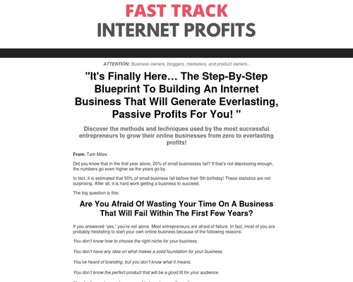 wmstrategy x400 thumb - Fast Track Internet Profits - A Step-by-step Blueprint For Profits