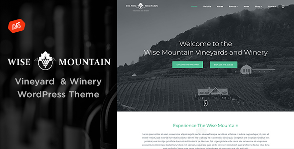 0 Wise Mountain Preview.  large preview - White Rock - Restaurant & Winery Theme