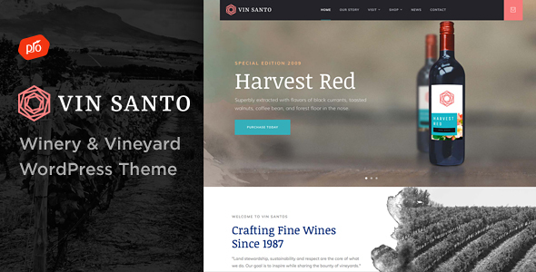 00 Preview Vin Santo.  large preview - White Rock - Restaurant & Winery Theme