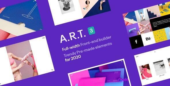 00 art preview.  large preview - ART Gallery & Portfolio WordPress