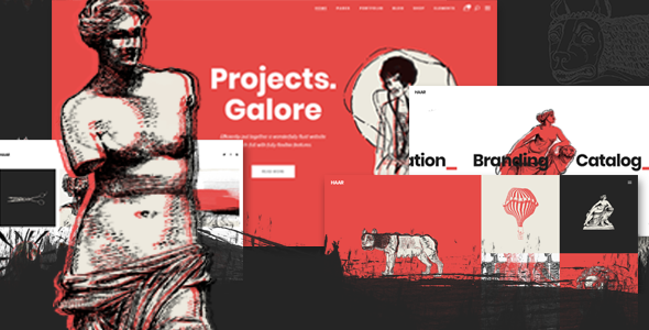 00 preview.  large preview - Haar - Portfolio Theme for Designers, Artists and Illustrators