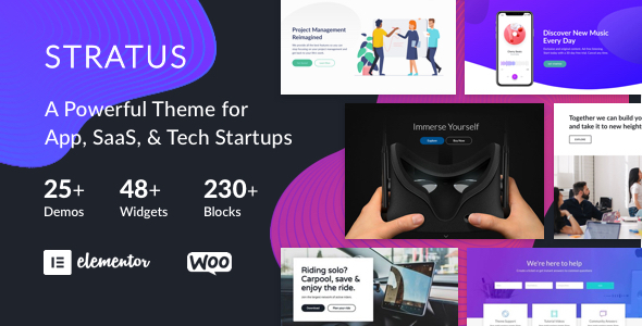 01 Stratus Preview.  large preview - App, SaaS & Software Startup Tech Theme - Stratus