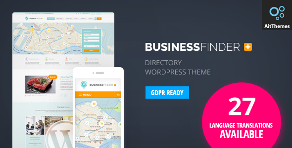 01 bf preview lang.  large preview - Business Finder: Directory Listing WordPress Theme