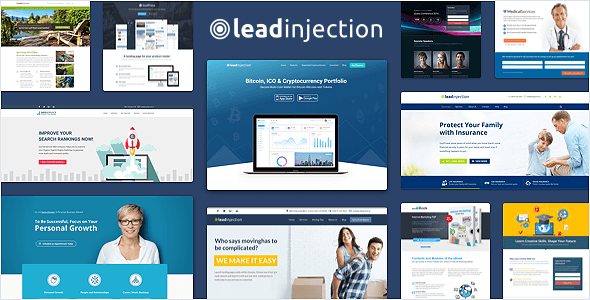 01 leadinjection wordpress landing page.  large preview - Leadinjection - Landing Page Theme