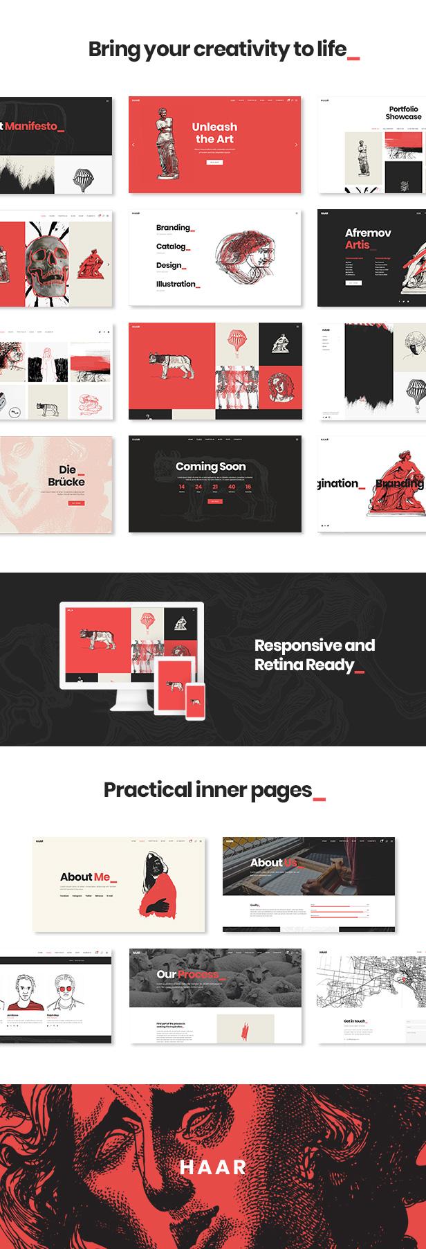 02 - Haar - Portfolio Theme for Designers, Artists and Illustrators