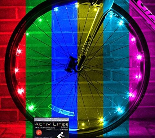1607274179 51AS7Nba6GL. AC  500x445 - Activ Life LED Bike Wheel Lights with Batteries Included! Get 100% Brighter and Visible from All Angles for Ultimate Safety & Style (1 Tire Pack)