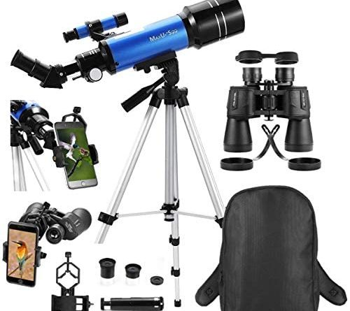 1607317710 516fLUU RgL. AC  500x445 - MaxUSee Travel Telescope with Backpack - 70mm Refractor Telescope & 10X50 HD Binoculars Bak4 Prism FMC Lens for Moon Viewing Bird Watching Sightseeing