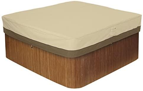 1608441347 41qeuxGZyCL. AC  - Classic Accessories 55-585-011501-00 Veranda Water-Resistant 86 Inch Square Hot Tub Cover,Pebble,Medium