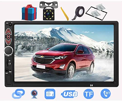 1609276004 51ZtwXyx7SL. AC  - Double Din Car Stereo-7 inch Car Stereo Upgrade Touch Screen,Compatible with BT TF USB MP5/4/3 Player FM Double din car Radio,Support Backup Rear View Camera, Mirror Link