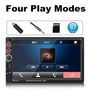 1dab961a 4d62 4e22 a50c 998b84041846.  CR0,0,300,300 PT0 SX300 V1    - Double Din Car Stereo-7 inch Car Stereo Upgrade Touch Screen,Compatible with BT TF USB MP5/4/3 Player FM Double din car Radio,Support Backup Rear View Camera, Mirror Link