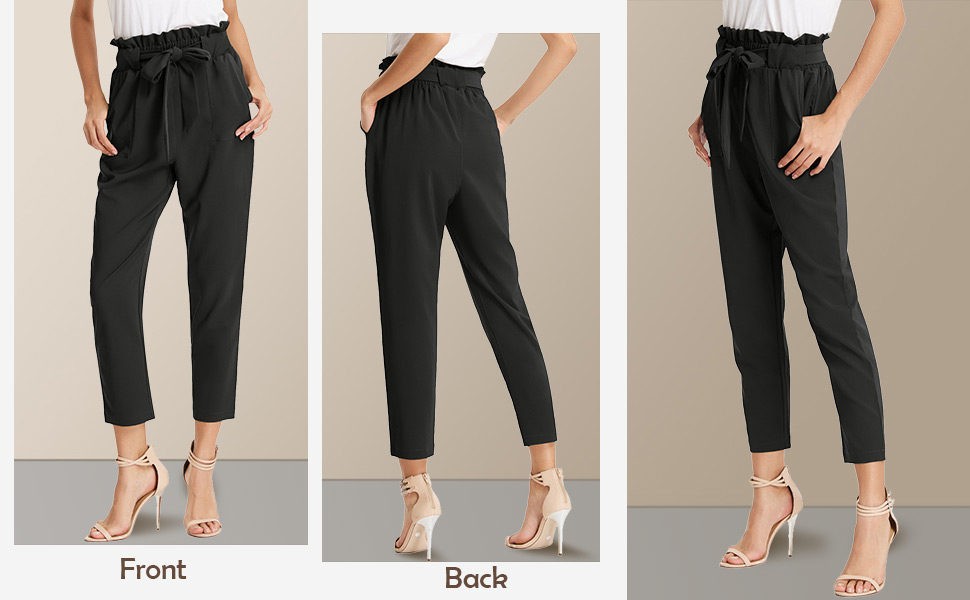 2e148f9f fb47 482a b39e 38aced97e8ee. CR0,0,970,600 PT0 SX970   - GRACE KARIN Women's Cropped Paper Bag Waist Pants with Pockets