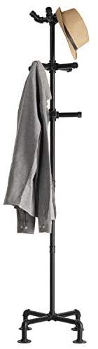 31ng9NwJNpL. AC  - MyGift 65-Inch Industrial Black Metal Pipe 12-Hook Coat Stand