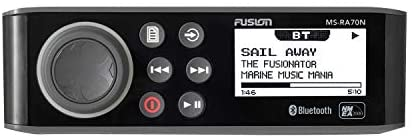 31yyR7c8tuL. AC  - Fusion MS-RA70N Stereo with 4x50W AM/FM/Bluetooth 2-Zone USB NMEA 2000 Fusion Link Wireless Control for Fusion Link App