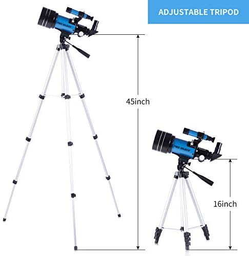 411FtCjp81L. AC  - FREE SOLDIER Telescope for Kids&Astronomy Beginners - 70mm Aperture Refractor Telescope for Stargazing With Adjustable Tripod Phone Adapter Wireless Remote Perfect Travel Telescope Gift for Kids, Blue