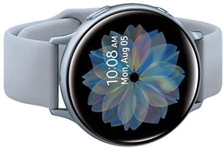 41J7d0kyI4L. AC  - Samsung Galaxy Watch Active 2 (44mm, GPS, Bluetooth), Silver (US Version)