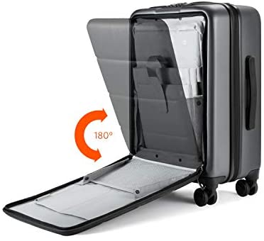 """41K28mB1iAL. AC  - NINETYGO Carry on Luggage 22x14x9 with Spinner Wheels, Hardside Carry on Suitcase with Front Pocket Lock Cover, Super Convenience & Lightweight for Business Travel (20"""")"""