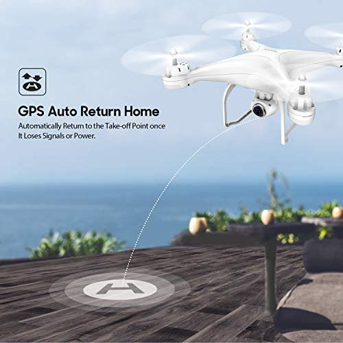41MPDXORHiL. AC  - Potensic T25 GPS Drone, FPV RC Drone with Camera 1080P HD WiFi Live Video, Auto Return Home, Altitude Hold, Follow Me, 2 Batteries and Carrying Case