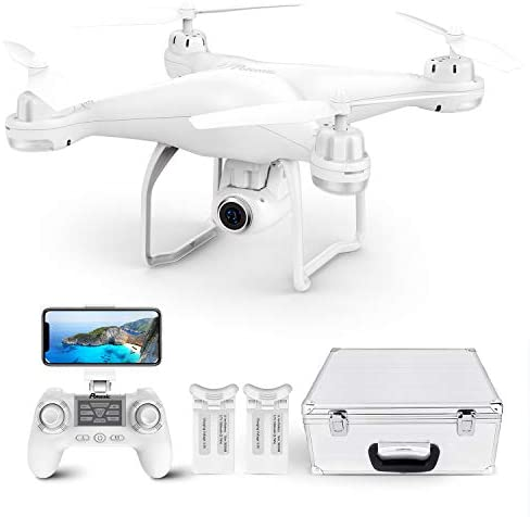 41NbdEkCExL. AC  - Potensic T25 GPS Drone, FPV RC Drone with Camera 1080P HD WiFi Live Video, Auto Return Home, Altitude Hold, Follow Me, 2 Batteries and Carrying Case