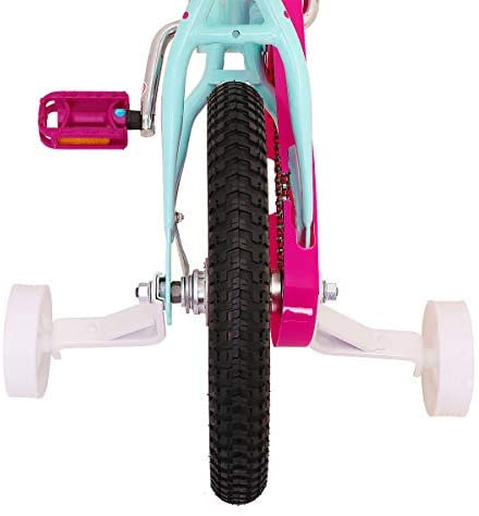 """41SFfCx3JpL. AC  - JOYSTAR Paris Girl's Bike for Ages 3-9 Years Old, Children Bike with Training Wheels for 12"""" 14"""" 16"""" 18"""" Kid's Bike, Kickstand for 18"""" Kids Bicycle"""