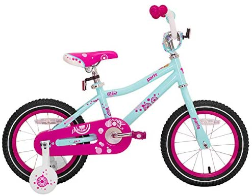 """41ghrheeFkL. AC  - JOYSTAR Paris Girl's Bike for Ages 3-9 Years Old, Children Bike with Training Wheels for 12"""" 14"""" 16"""" 18"""" Kid's Bike, Kickstand for 18"""" Kids Bicycle"""