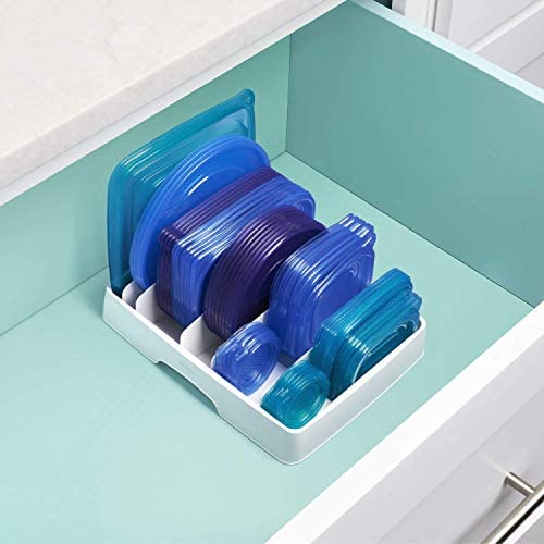 41hLBC5mEJL. AC  - YouCopia StoraLid Food Container Lid Organizer, Large, White