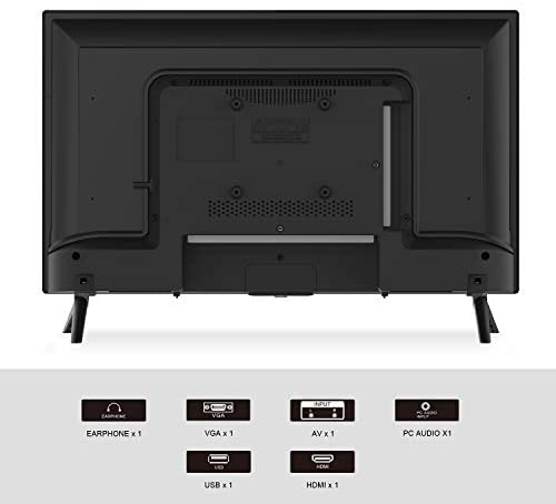 41ihylQSvGL. AC  - SANSUI 24 Inch TV 720P Basic S24 LED HD TV High Resolution Flat Screen Television Built-in HDMI,USB,VGA Ports - Refresh Rate 60Hz (2020 Model)…
