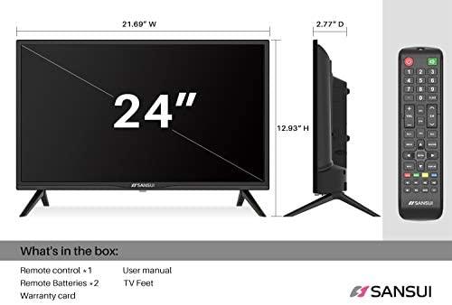 41jNwGDELOL. AC  - SANSUI 24 Inch TV 720P Basic S24 LED HD TV High Resolution Flat Screen Television Built-in HDMI,USB,VGA Ports - Refresh Rate 60Hz (2020 Model)…