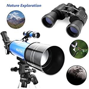 45e4af1d 699a 4fef aa6a aed5e57abe70. CR59,0,1843,1843 PT0 SX300   - MaxUSee Travel Telescope with Backpack - 70mm Refractor Telescope & 10X50 HD Binoculars Bak4 Prism FMC Lens for Moon Viewing Bird Watching Sightseeing