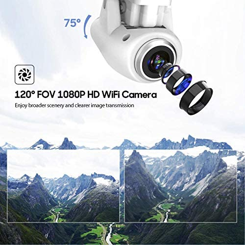 51+vzV3Gf6L. AC  - Potensic T25 GPS Drone, FPV RC Drone with Camera 1080P HD WiFi Live Video, Auto Return Home, Altitude Hold, Follow Me, 2 Batteries and Carrying Case