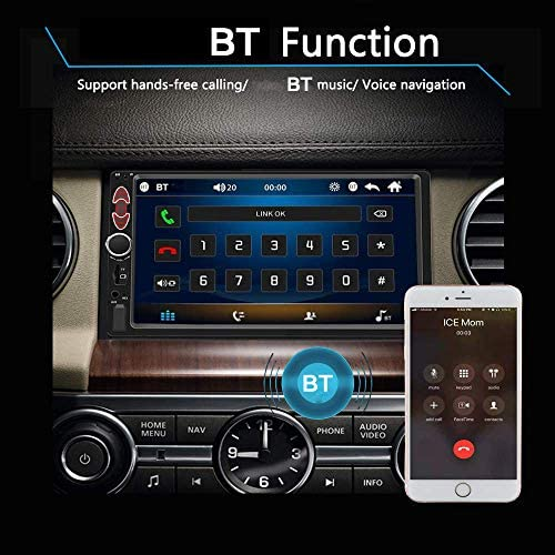 512TYNvdXUL. AC  - Double Din Car Stereo-7 inch Car Stereo Upgrade Touch Screen,Compatible with BT TF USB MP5/4/3 Player FM Double din car Radio,Support Backup Rear View Camera, Mirror Link