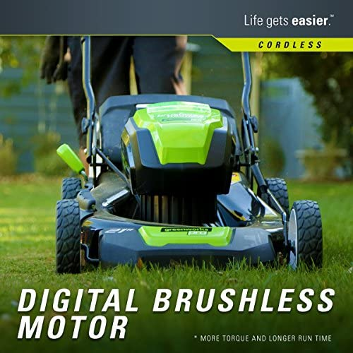 519lrQs7wNL. AC  - Greenworks 2502202 Pro 21-Inch 80V Push Cordless Lawn Mower, Battery and Charger Not Included