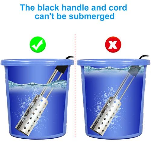 519uIdZqSLL. AC  - Electric Portable Bucket Heater, Gesail UL-Listed Immersion Heater With 304 Stainless-steel Guard, Submersible Bucket water Heater With Thermostat and Auto Shutoff Protection