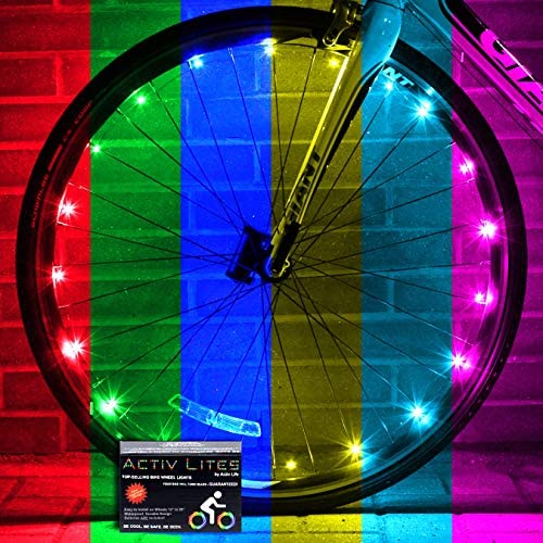 51AS7Nba6GL. AC  - Activ Life LED Bike Wheel Lights with Batteries Included! Get 100% Brighter and Visible from All Angles for Ultimate Safety & Style (1 Tire Pack)