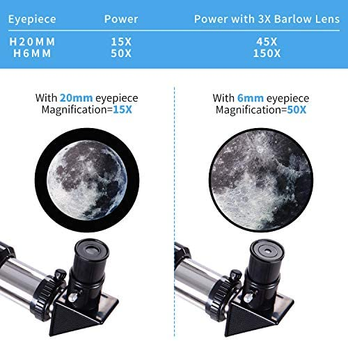 51EY3LmbGgL. AC  - FREE SOLDIER Telescope for Kids&Astronomy Beginners - 70mm Aperture Refractor Telescope for Stargazing With Adjustable Tripod Phone Adapter Wireless Remote Perfect Travel Telescope Gift for Kids, Blue