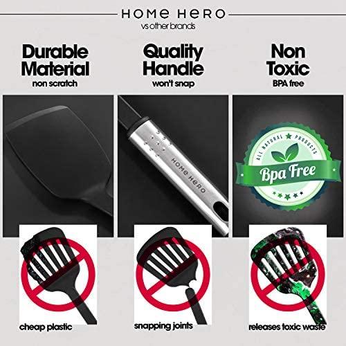 51JoeIaDR5L. AC  - Home Hero Kitchen Utensil Set - 23 Nylon Cooking Utensils - Kitchen Utensils with Spatula - Kitchen Gadgets Cookware Set - Kitchen Tool Set