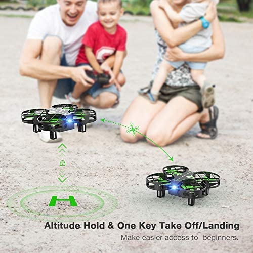 51N4zVkgAhL. AC  - SNAPTAIN H823H Mini Drone for Kids, RC Pocket Quadcopter with Altitude Hold, Headless Mode, 3D Flip, Speed Adjustment and 3 Batteries-Green