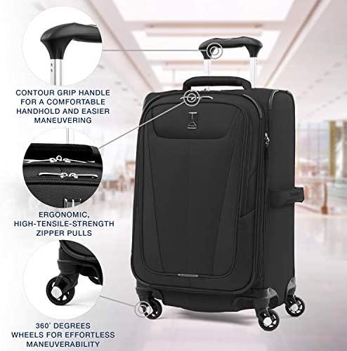 51TDIqmXyeL. AC  - Travelpro Maxlite 5-Softside Expandable Spinner Wheel Luggage, Black, Carry-On 21-Inch