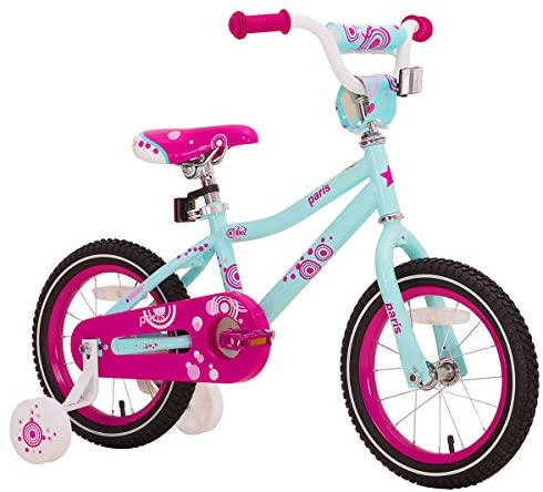 """51VWVxVN6dL. AC  - JOYSTAR Paris Girl's Bike for Ages 3-9 Years Old, Children Bike with Training Wheels for 12"""" 14"""" 16"""" 18"""" Kid's Bike, Kickstand for 18"""" Kids Bicycle"""