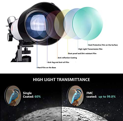 51WETLPkdDL. AC  - FREE SOLDIER Telescope for Kids&Astronomy Beginners - 70mm Aperture Refractor Telescope for Stargazing With Adjustable Tripod Phone Adapter Wireless Remote Perfect Travel Telescope Gift for Kids, Blue