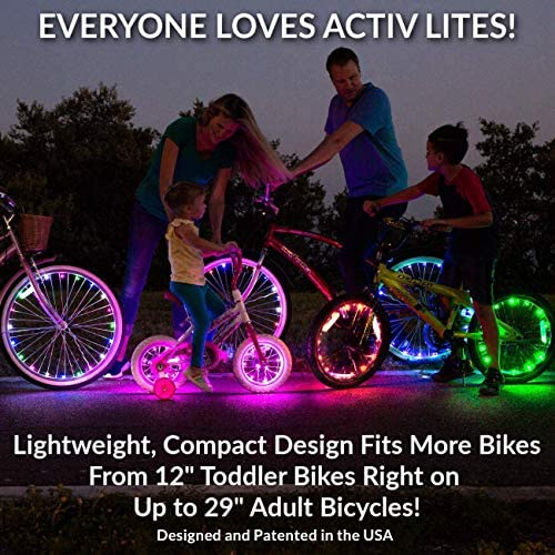 51YinYftXiL. AC  - Activ Life LED Bike Wheel Lights with Batteries Included! Get 100% Brighter and Visible from All Angles for Ultimate Safety & Style (1 Tire Pack)