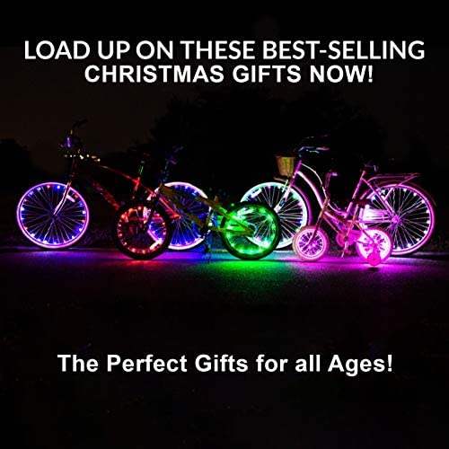 51ar5U1G2wL. AC  - Activ Life LED Bike Wheel Lights with Batteries Included! Get 100% Brighter and Visible from All Angles for Ultimate Safety & Style (1 Tire Pack)
