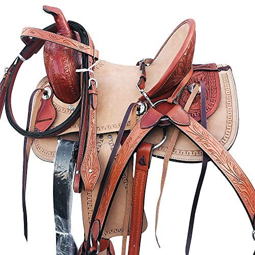 51bds4fZr3L. AC  - Western Horse Saddle Roping Trail Pleasure Child Youth Leather Tack