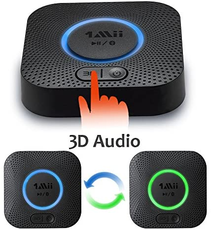 51cUdDSfFOL. AC  - [Upgraded] 1Mii B06 Plus Bluetooth Receiver, HIFI Wireless Audio Adapter, Bluetooth 5.0 Receiver with 3D Surround aptX Low Latency for Home Music Streaming Stereo System