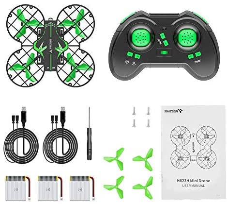 51ilpTITknL. AC  - SNAPTAIN H823H Mini Drone for Kids, RC Pocket Quadcopter with Altitude Hold, Headless Mode, 3D Flip, Speed Adjustment and 3 Batteries-Green