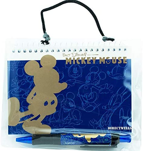51pmZo8cg4L. AC  - Disney Mickey Mouse Gold Blue Autograph Book with Retractable Pen