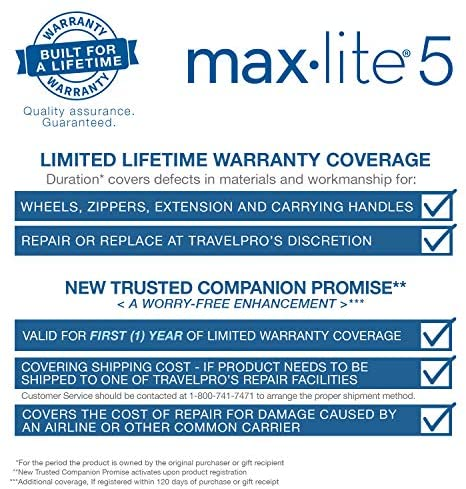 51r1U8KsjjL. AC  - Travelpro Maxlite 5-Softside Expandable Spinner Wheel Luggage, Black, Carry-On 21-Inch
