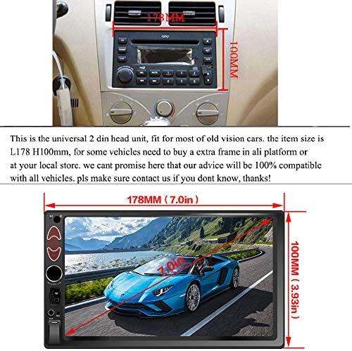 51vs  DdTvL. AC  - Double Din Car Stereo-7 inch Car Stereo Upgrade Touch Screen,Compatible with BT TF USB MP5/4/3 Player FM Double din car Radio,Support Backup Rear View Camera, Mirror Link
