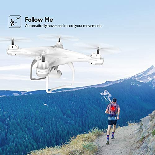 51xxZfvRHGL. AC  - Potensic T25 GPS Drone, FPV RC Drone with Camera 1080P HD WiFi Live Video, Auto Return Home, Altitude Hold, Follow Me, 2 Batteries and Carrying Case