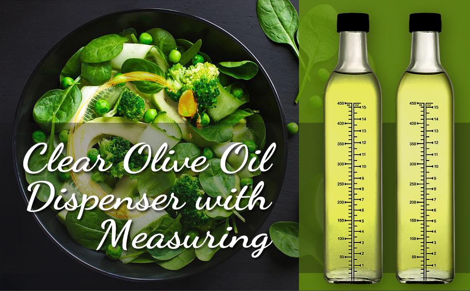5342966b 7950 442c aa5c 8ee41bb56557.  CR0,0,970,600 PT0 SX970 V1    - [2 PACK]Aozita 17 oz Glass Olive Oil Dispenser Bottle Set - 500ml Clear Oil & Vinegar Cruet Bottle with Pourers, Funnel and Labels - Olive Oil Carafe Decanter for Kitchen